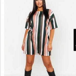 Boohoo Striped Sheathe Dress